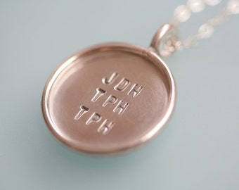 Near Your Heart Necklace with 3 Sets of Initials