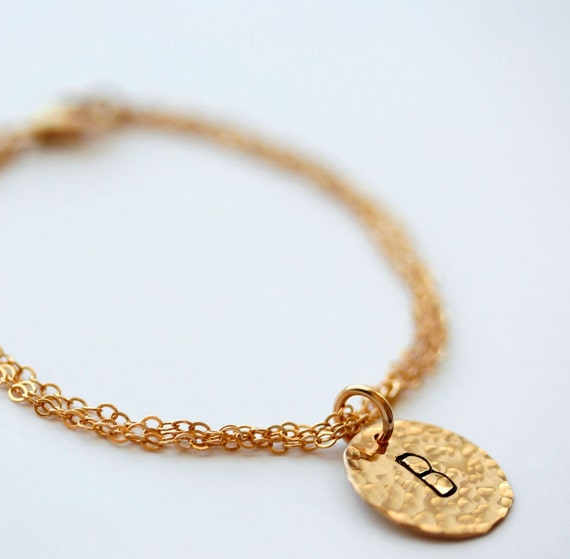 personalized gold filled charm bracelet