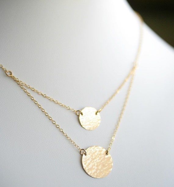 Hammered Layered Simplicity in 14K Gold Filled