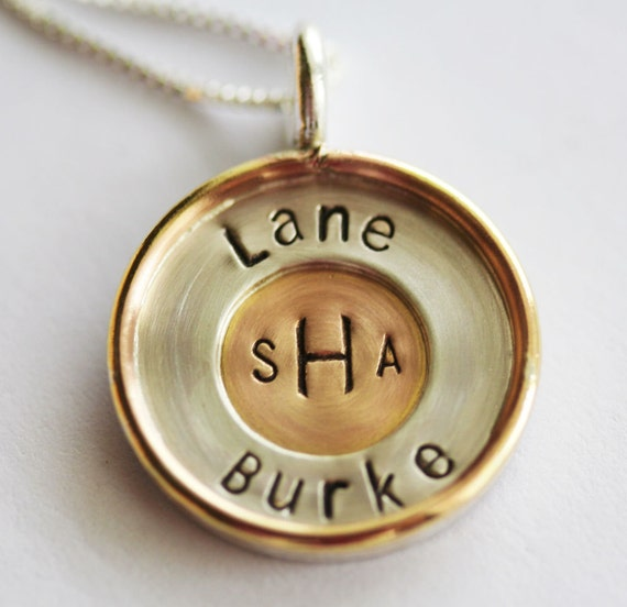 Circle of Love - Custom Two Tone Pendant and Necklace