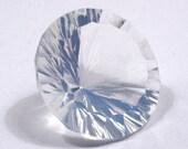 Rainbow Oregon Opal Round Concave Cut