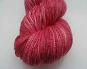 SALE PRICE-Blush -  Hand Dyed Merino / Tencel fingering weight  superwash sock yarn
