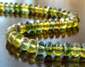 Olive Celsian Mix Czech Glass Bead 4x7mm Faceted Donut - 25