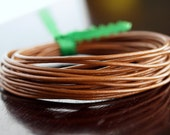 1.5mm Round Leather Cord Light Brown : 15 Feet
