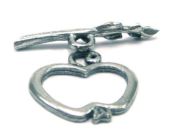 Apple and Branch Pewter Toggle Clasp - Two