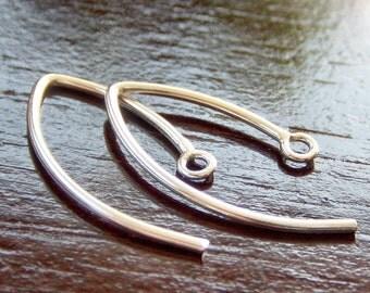 Bali Sterling Silver 20mm Marquis Ear Wire : 2 pair Leaf Petal Earwire