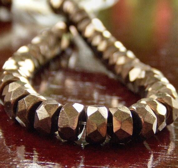 Czech Glass Bead Bronze 6x3mm Rondelle : 25 pc
