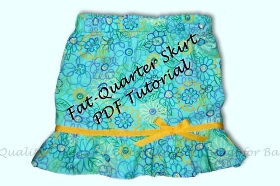 PDF Tutorial--Fat Quarter Skirt