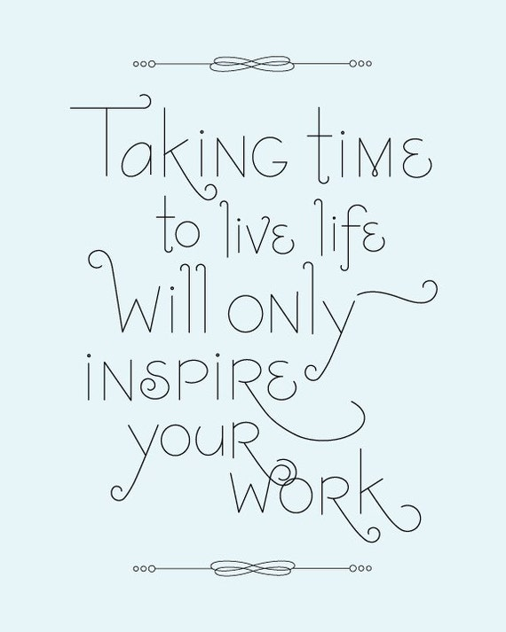 Inspire Your Work Typographic Poster (small)
