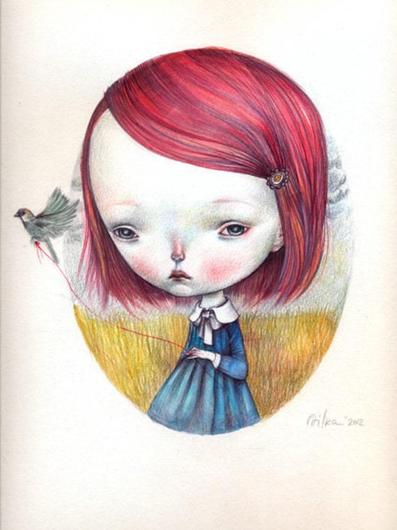 Little sparrow - open edition print