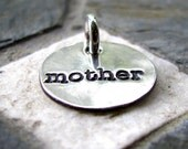 Silver Mother Charm, PMC Fine Silver, Mother Gift