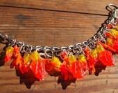 Ring of Fire Lego Dangle Bracelet