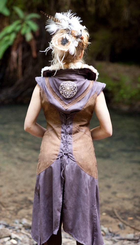 SALE - Sacred Geometry Faux Fur Vest