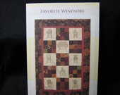 Redwork Quilt Pattern - Favorite Windsors Wall Hanging Pattern
