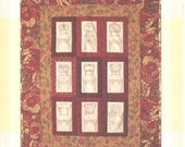 Redwork Quilt Pattern - Fancy Chairs - Victorian Wallhanging