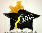 Graduation Cap Wood Door Hanger Decoration HUGE - High School Senior