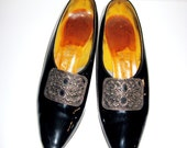 Women 50s Shoes Palter Deliso Debs Black w/Bow  French Heels