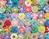 Fabric Flowers Hair Clip Bobby Pin Barrette Rainbow Quilt 40 Scrapbook YoYo Yo Rosette Button Bow Bead Headband Embellishment