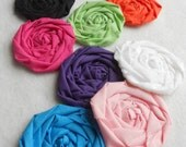 """Fabric Flowers Rolled Rose MIX Hairclip Bride Wedding Shower Birthday Party Photo Prop French Rosette 2.5"""" Scrapbook Handmade Wholesale 50"""