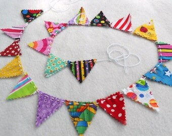 Birthday Bunting Garland Wedding Garland Flag Circus Nursery Fabric Banner Birthday Party Streamer Photography Photo Prop 3'