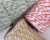 Bakers twine set of 3 spools Cotton String 300 metres 330 yards Green Yellow Orange Bakers twine packing parcels wrap