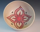 Red Folk Patterned Mixing Bowl