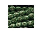 Shamrock Beads Green w Gold Inlay St Patricks Day Irish Rosary Making Confirmation
