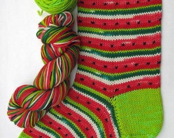 It's back in time for Christmas!  Watermelon Christmas Stocking kit