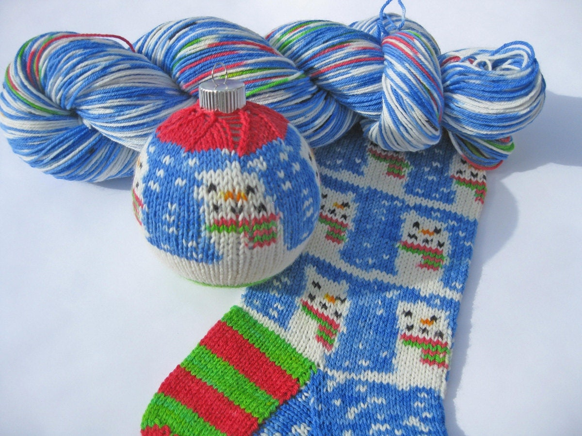 snowman sock yarn pre order snowman self patterning sock yarn kit