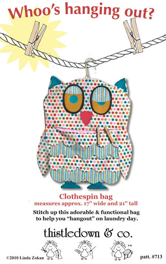 Free Crochet Pattern For Clothespin Bag : clothes pin bag pattern or kids room organizer pattern