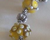 Gold lampwork bracelet
