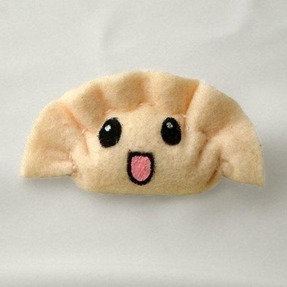 Happy Gyoza Brooch - Smile Little Dumpling