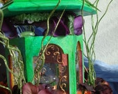 Glenfildas Enchanted Tea Time Fairy Dwelling - Fully Furnished Fairy House