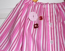 UPcycled and REcycled - Children Peasant Dress or Top - Will fit a size 12-24 month, 2T, 3T and 4T - by Boutique Mia - Ready To Ship