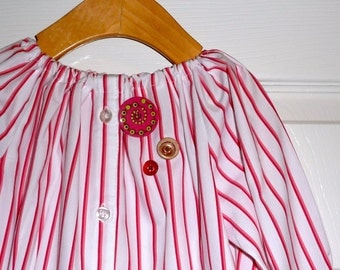 UPcycled and REcycled - Children Peasant Dress or Top - Will fit a size 2T, 3T, 4T and 5T - by Boutique Mia - Ready To Ship