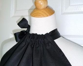 DIY KIT - Women - Pillowcase Dress - Black Linen and Cotton - Pick the size - Junior, Adult and Plus size - by Boutique Mia and More