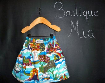 SAMPLE - Children Skirt - 11 INCHES LONG - Will fit Size  6-12 month up to a 2T - by Boutique Mia and More - Ready To Ship