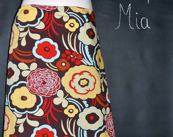 DIY KIT - WOMEN - Aline Skirt - Alexander Henry - Mocca - Pick the size - Junior, Adult and Plus size - by Boutique Mia and More