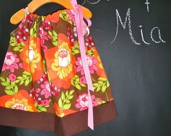 SAMPLE - Pillowcase Dress or Top - Sandi Henderson - Will fit Size 3 month up to 3T - by Boutique Mia and More - Ready To Ship