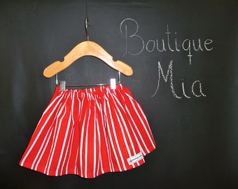 SAMPLE - Christmas Children Skirt - Will fit Size 12-24 month and 2T / 3T - by Boutique Mia and More - Ready To Ship