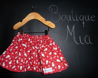SAMPLE - Children Skirt - Snowman - Will fit Size 3-6 month up to 12 month - by Boutique Mia and More - Ready To Ship