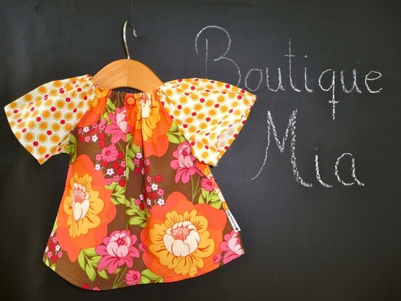 SAMPLE - Aline Top - Will fit Size 6-12 month - by Boutique Mia and More - Ready To Ship
