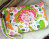 Psychedelic Hippo Wristlet