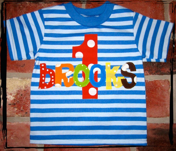 Striped What's In a Name Birthday Tee - LIMITED EDITION