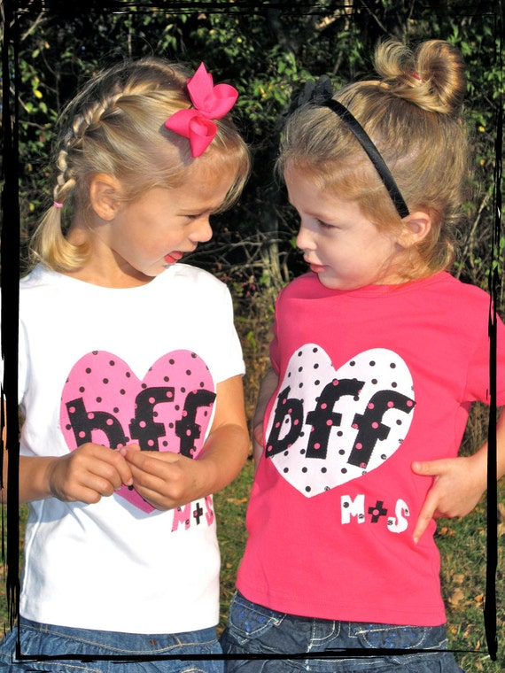 BEST FRIENDS FOREVER Set of 2 Baby Dots Onesies or T-Shirts