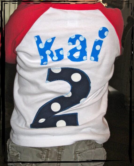 BIRTHDAY JERSEY Raglan onesie or T-Shirt