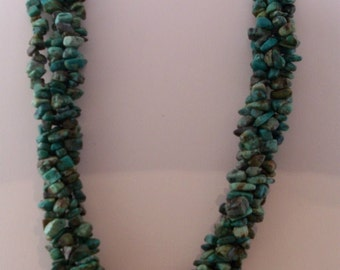 Turquoise, Coral and Silver Necklace (4)