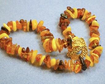 Amber Choker Style Necklace (831)