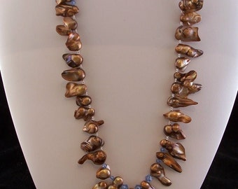 Pearl and Crystal Necklace (407)