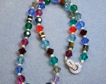 Crystal and Pearl Necklace (645)